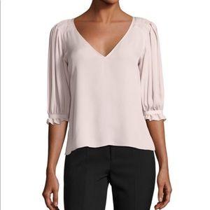 Rebecca Taylor Light Pink Silk Georgette Blouse 8